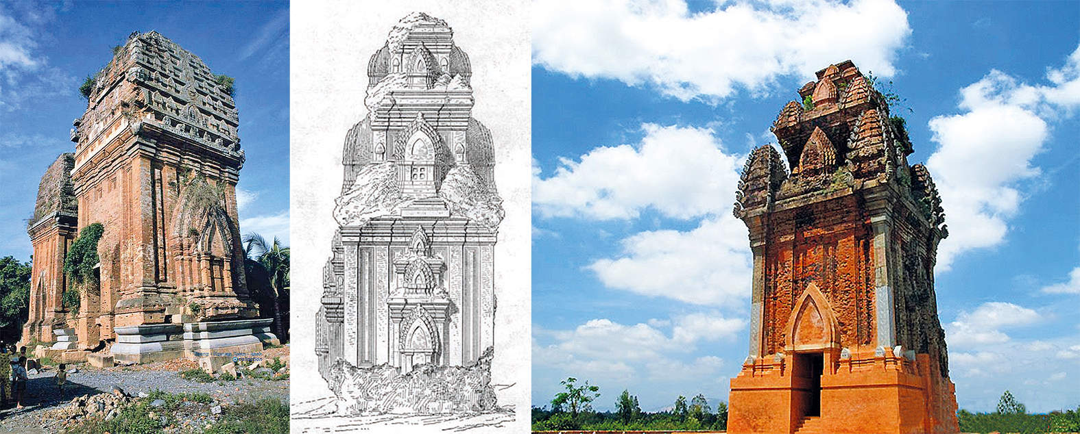 Architecture of Twin Cham Towers