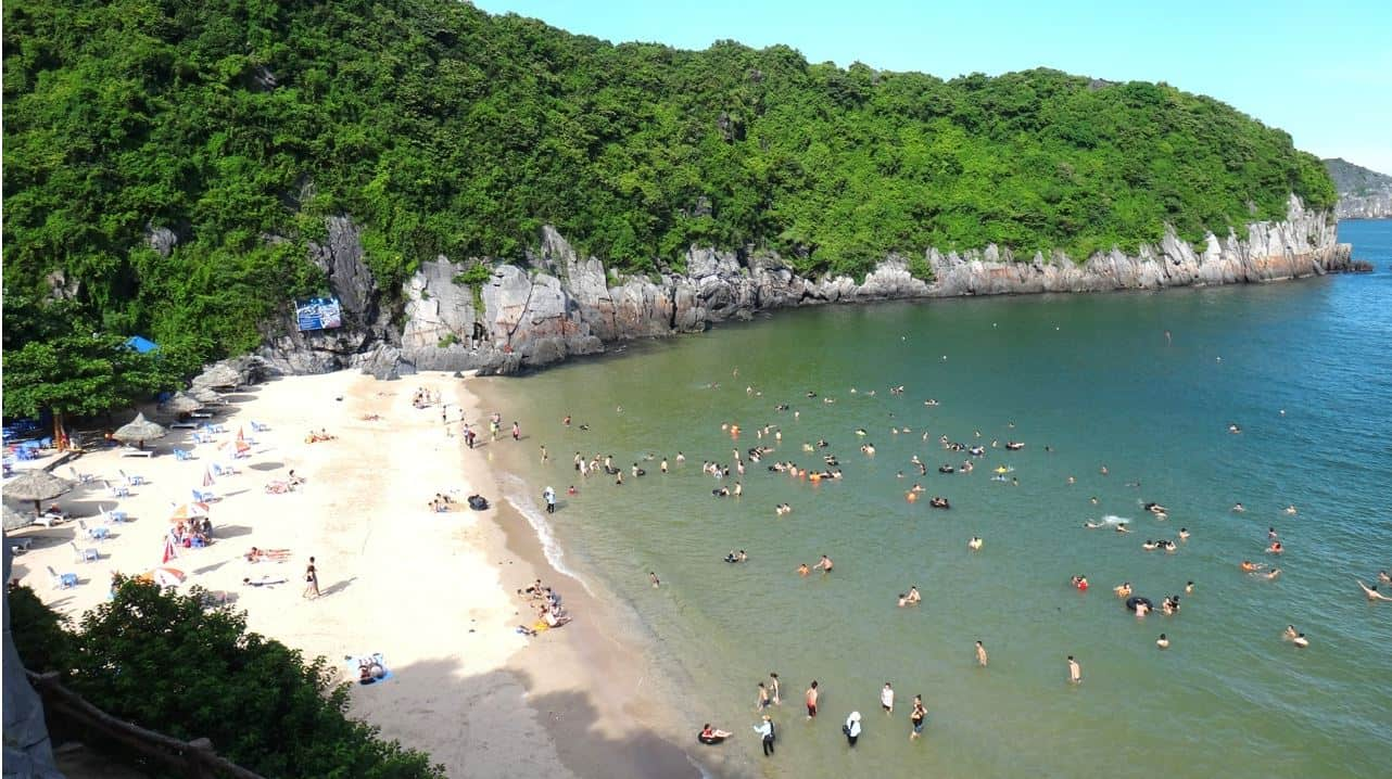 Beaches in Cat Ba Island near Hanoi