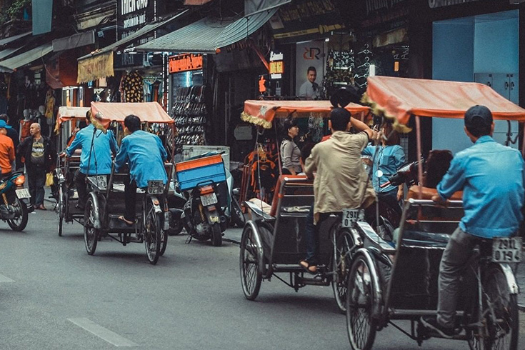 Cyclo tours in Hanoi