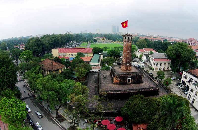 Flag Tower in Imperial Citadel of Thang Long