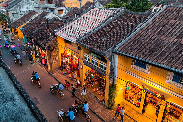 Hoi an street from above