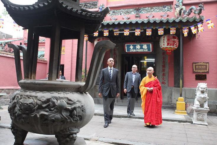 Outside of Jade Emperor Pagoda