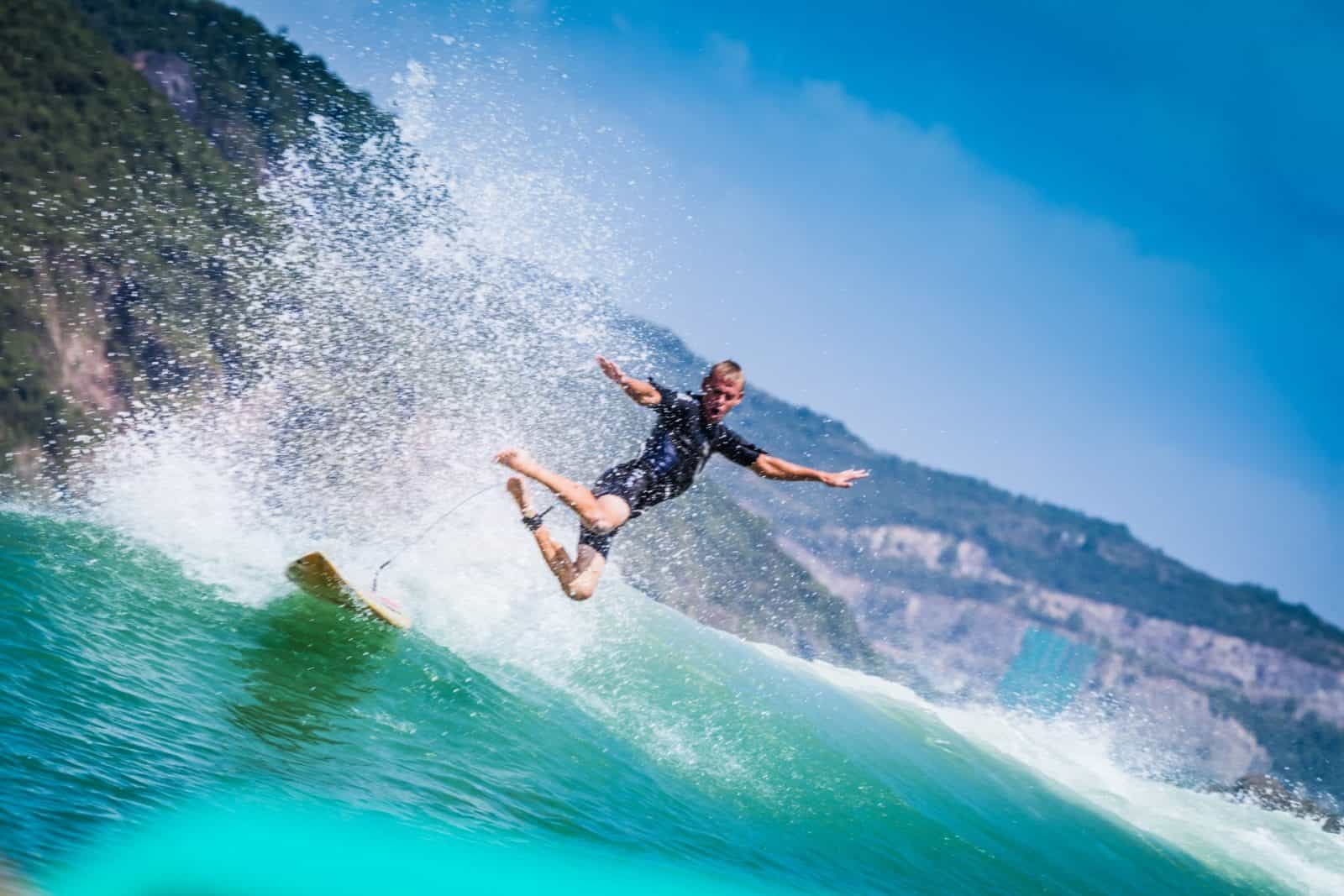 Surfing in Nha Trang Vietnam