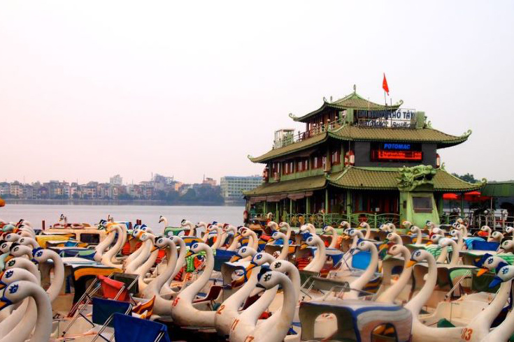 Swan pedalo - activities around West Lake