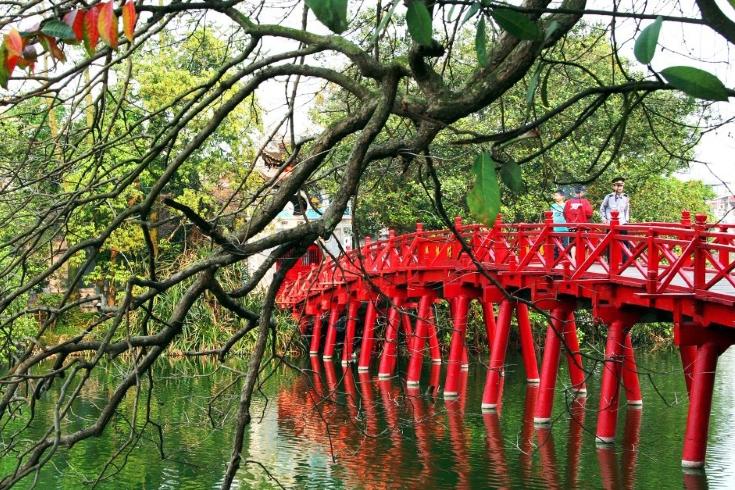 The Huc Bridge - Hoan Kiem Lake