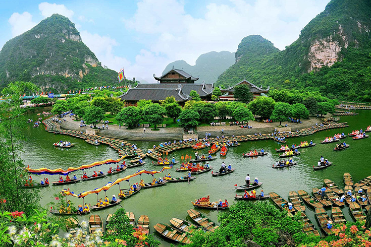 Trang An complex in Ninh Binh from above