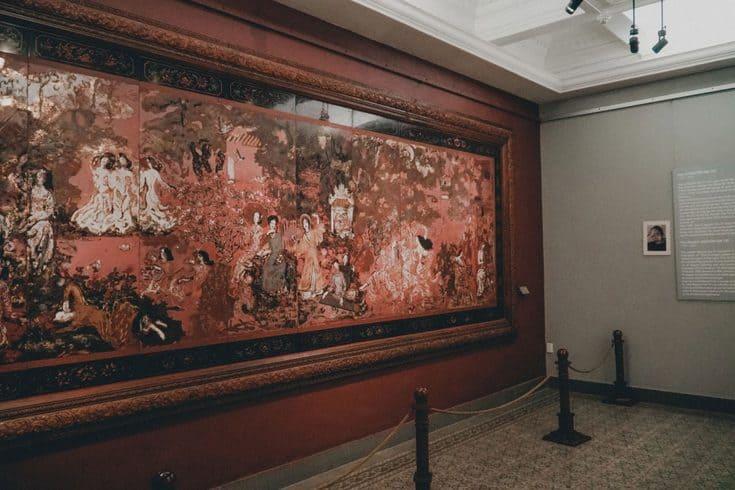 display in Saigon fine arts museum