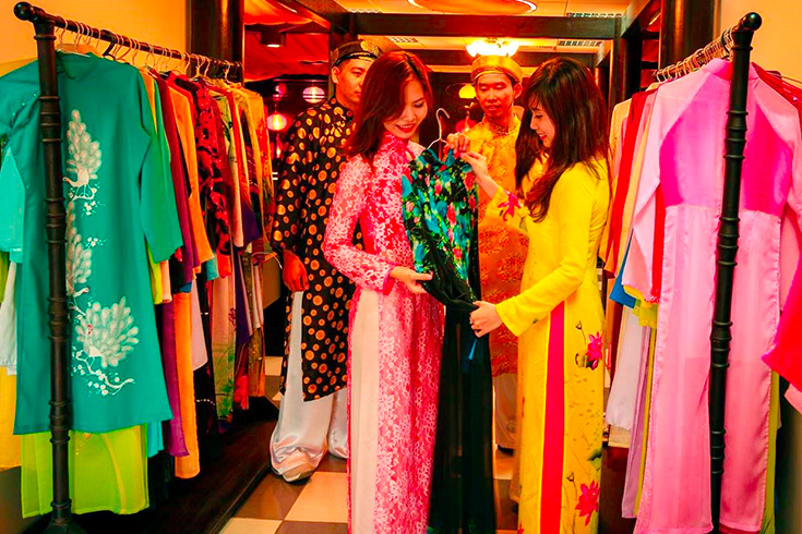 Ao dai in Ho Chi Minh city