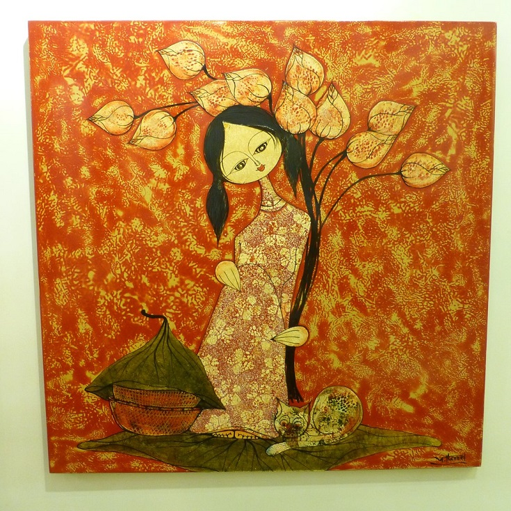 Beautiful lacquer paintings at Hang Gai street