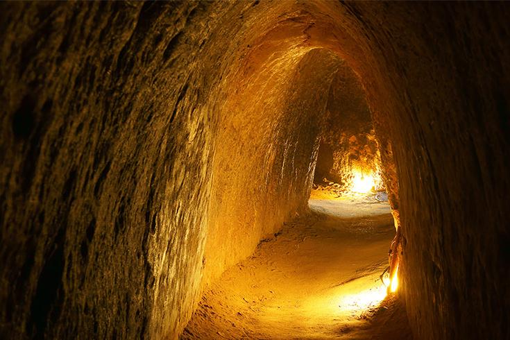 Inside Ben Dinh tunnels