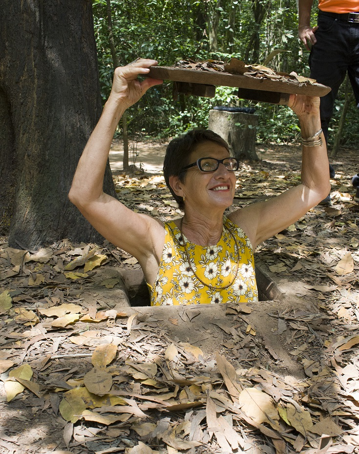 Visiting Ben Duoc at Cu Chi tunnels