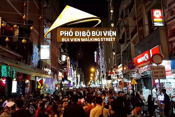 Bui Vien street in Ho Chi Minh City