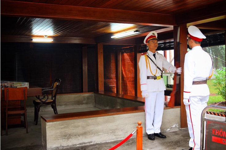 Changing of the Guard at Ho Chi Minh's stilt house