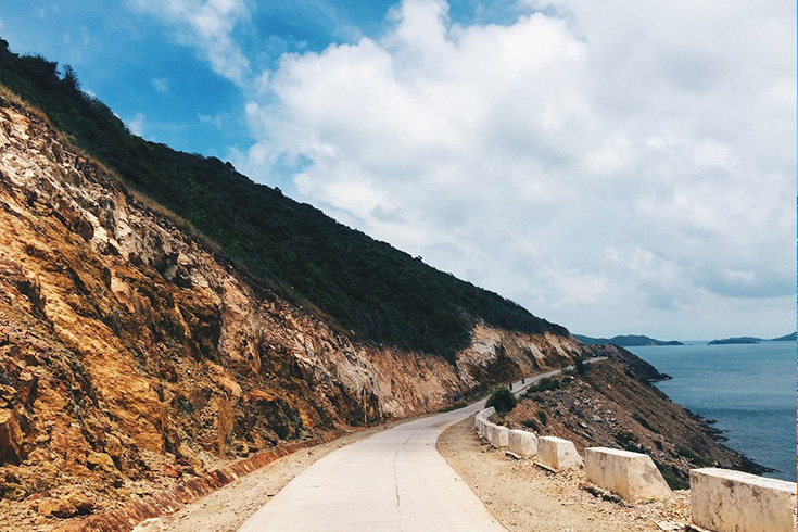Coastline of Nam Du island