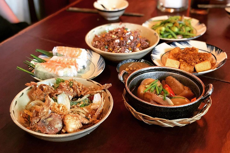 Dishes at Cuc Gach quan