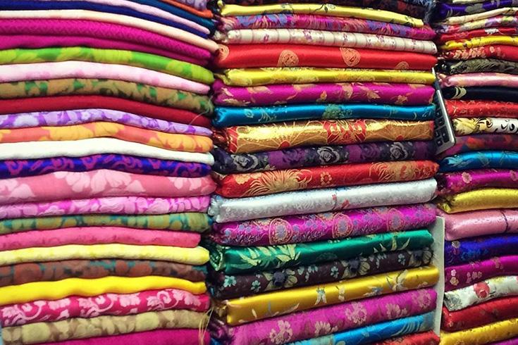 Fabric at Cho hom market