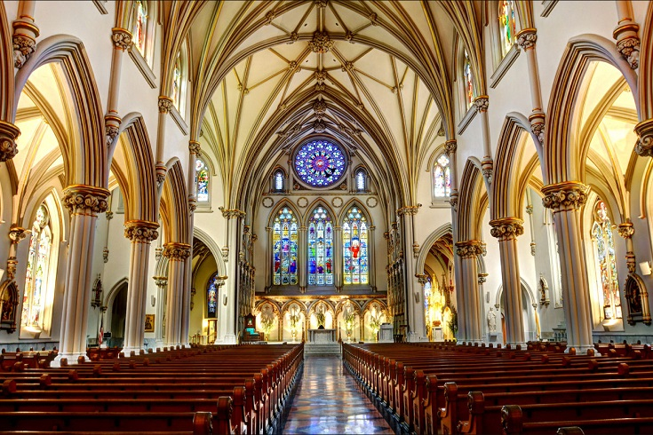Inside of St Josephs Cathedral