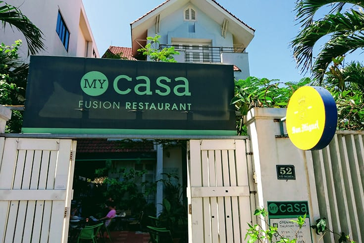 My Casa restaurant in Da Nang