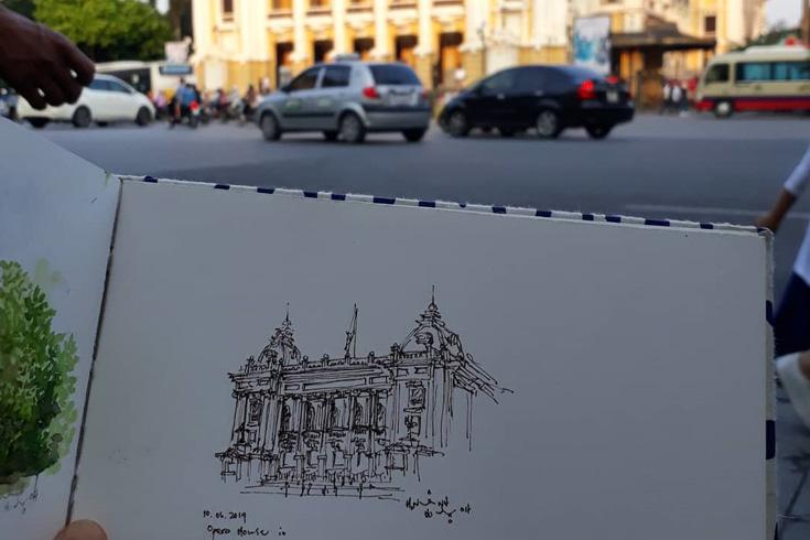 Quick sketch of Hanoi Opera house