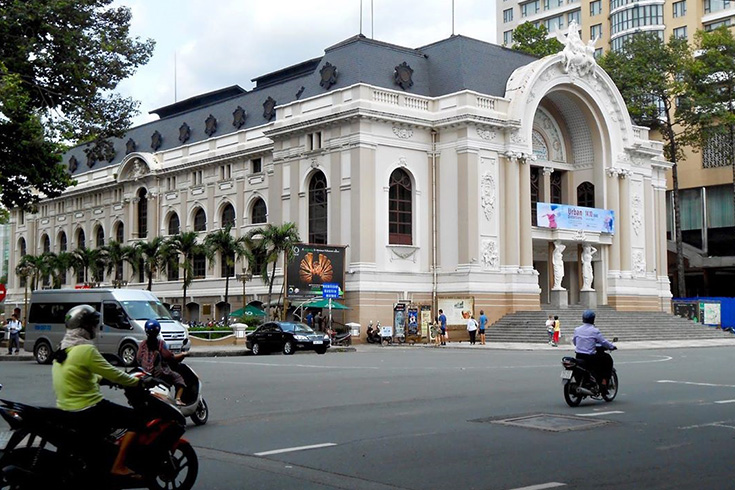 Saigon Central Post Office from afar