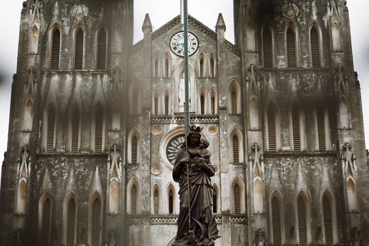 Saint joseph Cathedral in Hanoi Vietnam