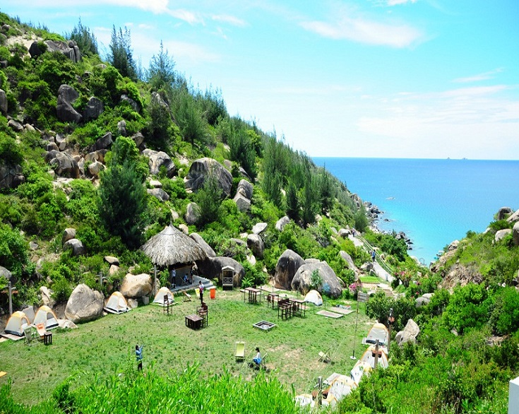 Trung Luong Camping Site in Vietnam