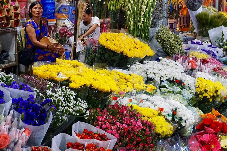 Visit Quang Ba night flower market