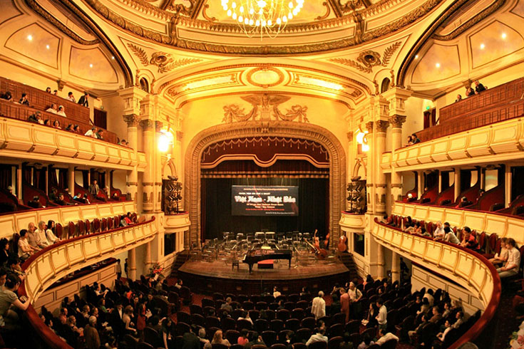 Watch a show at Hanoi Opera House