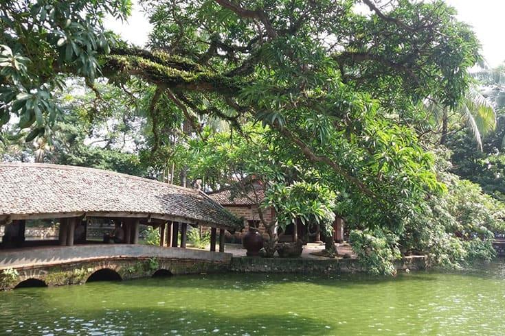 A scene at Thay pagoda