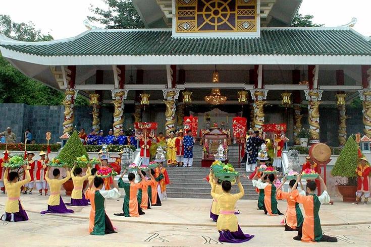 Activities in Ba Chua Xu temple festival