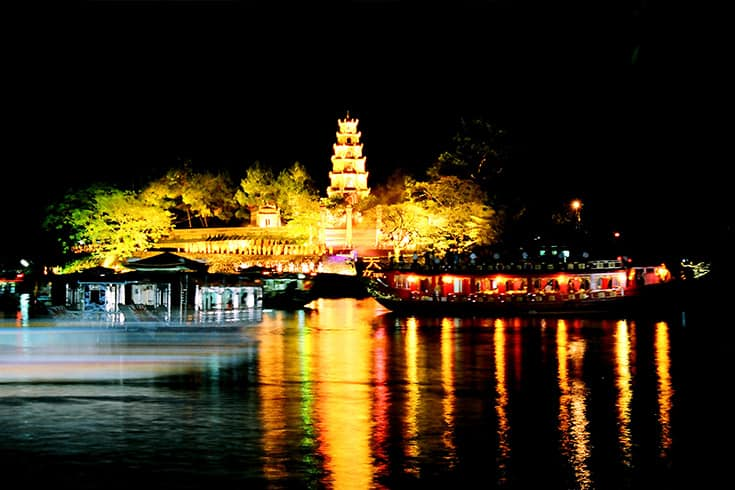 Dragon boat on Huong River in Hue