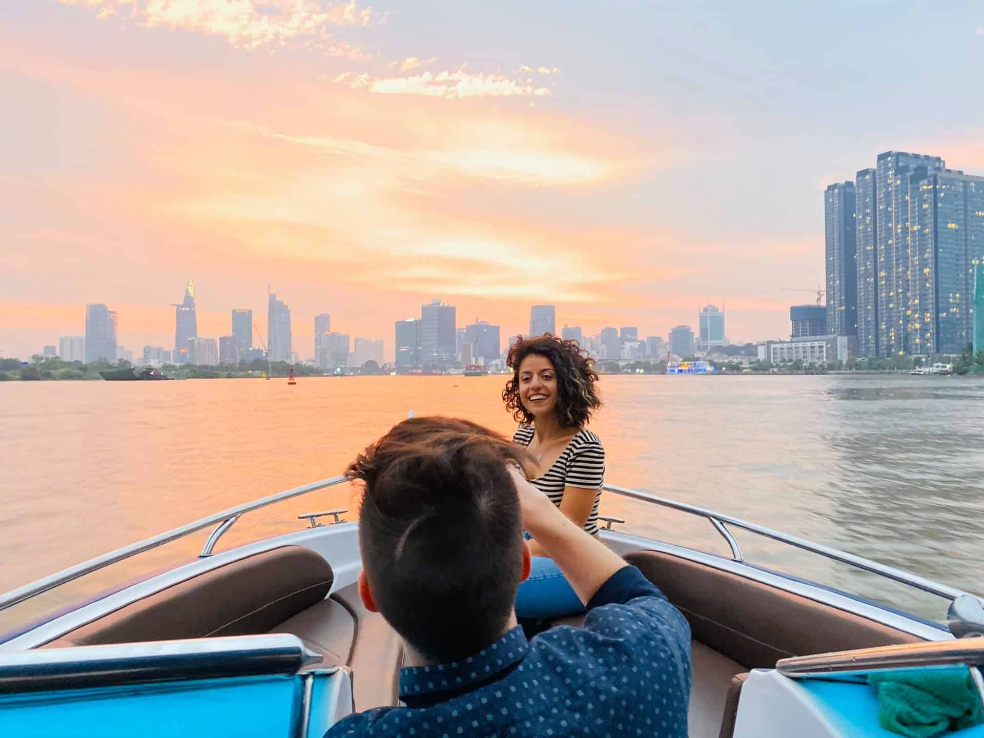 Sunset City Tour on Saigon River by Speedboat
