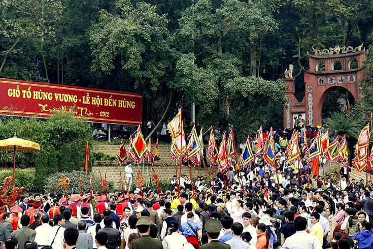When does Hung Kinh temple festival take place