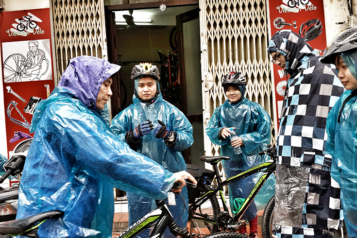 Pedaling through Different Parts of Hanoi