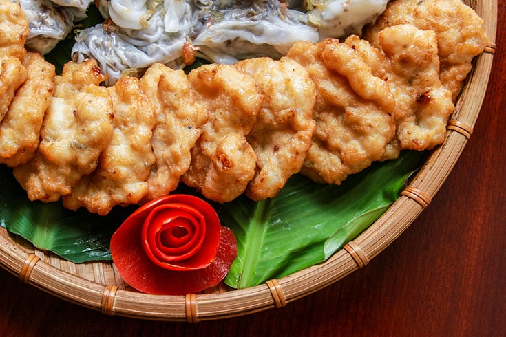 Halong Squid Cake - what to eat in Halong Bay