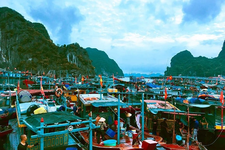 Halong seafood market