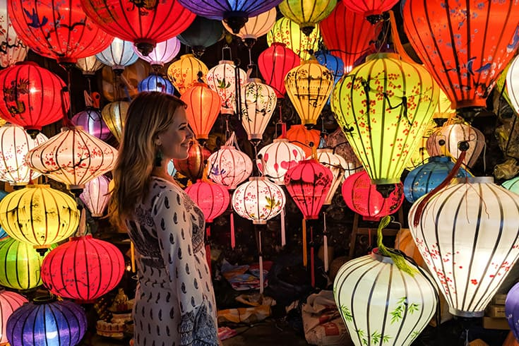 Lantern streets in Hoi An