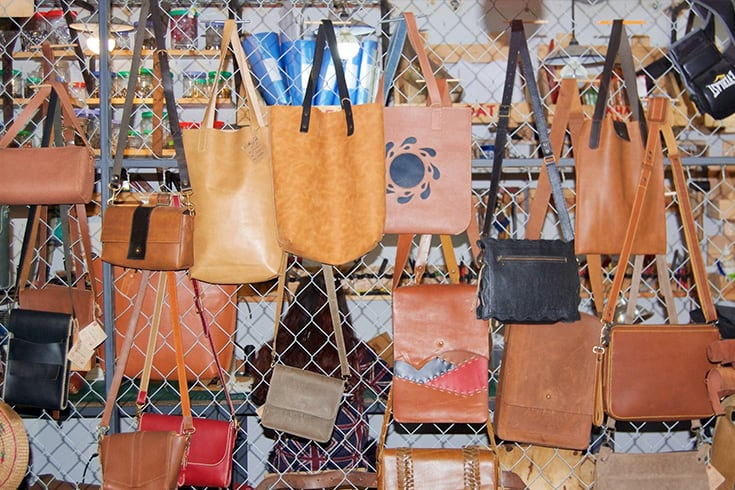 Leather bags in Hoi An