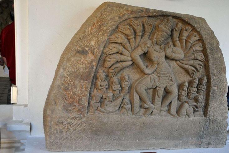 Piece of sculpture in Cham Museum