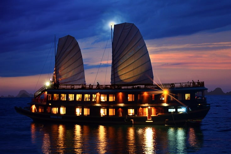 Staying Overnight on Board in Halong