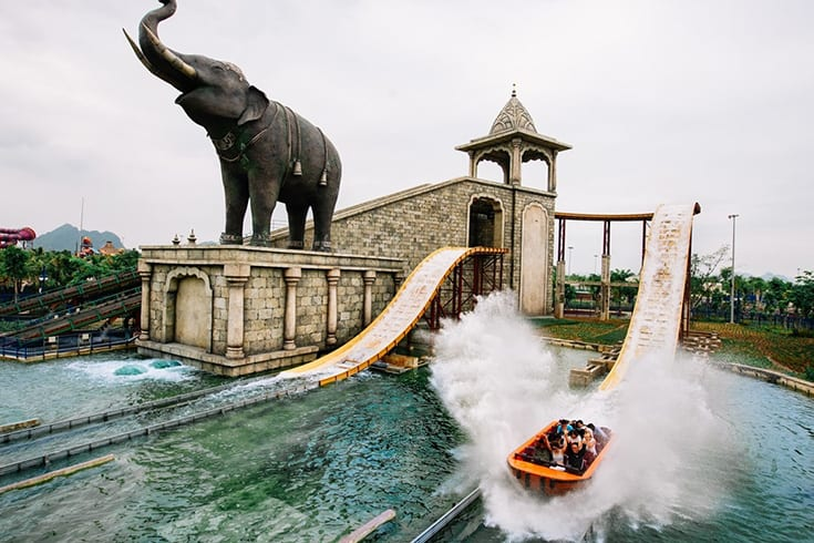 Typhoon Water Park in Sun World Halong Complex