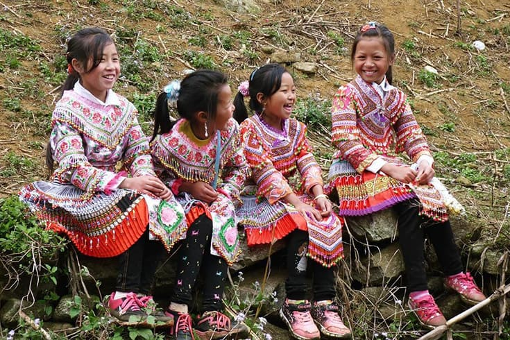 Children in Gau Tao festival