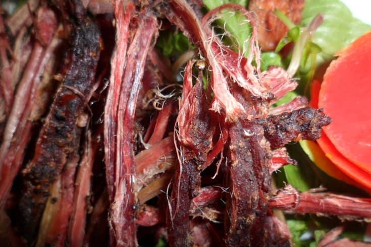 Dried buffalo meat
