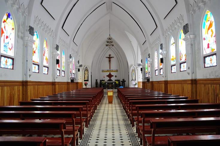 Inside Sapa church
