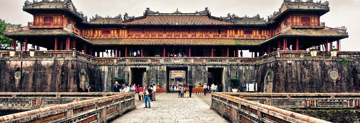 Purple Forbidden City In Hue A Nostalgic Look At The Past Of Vietnam