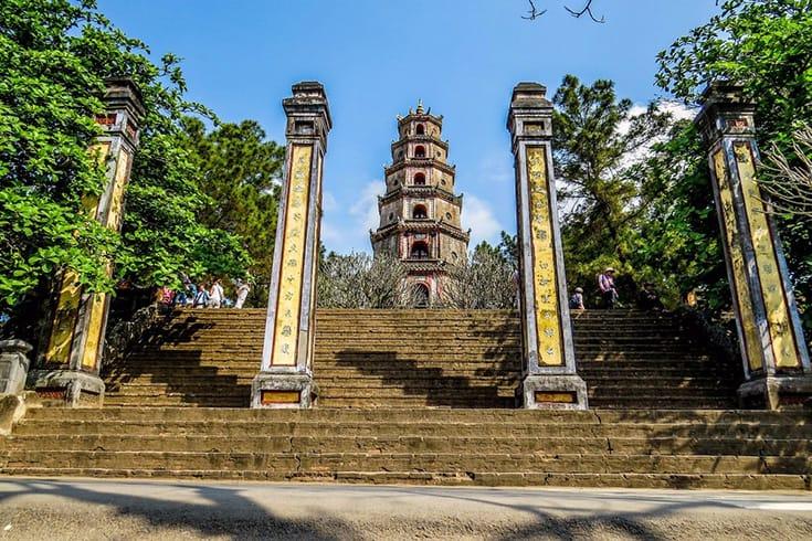 Thien mu pagoda from afar (trover.com)