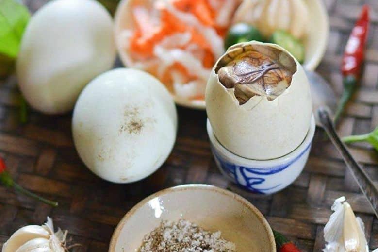 Balut - weird vietnamese food