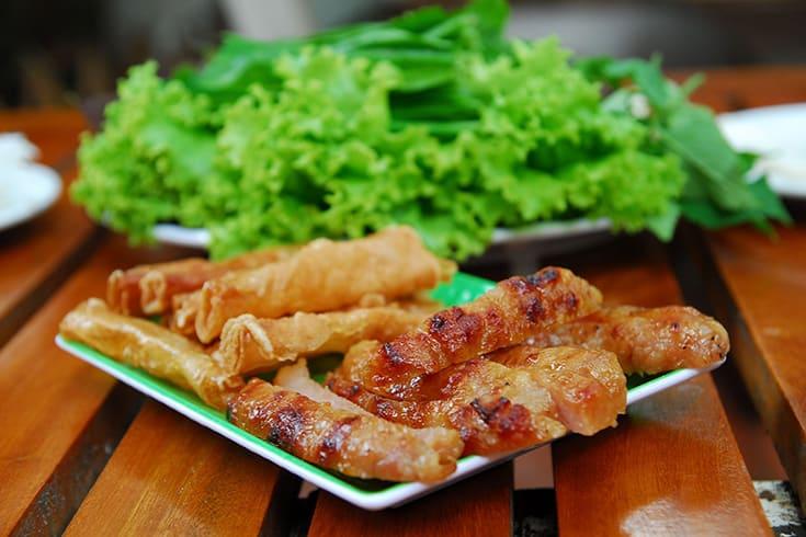 Grilled Sausage to eat during nightlife in Nha Trang