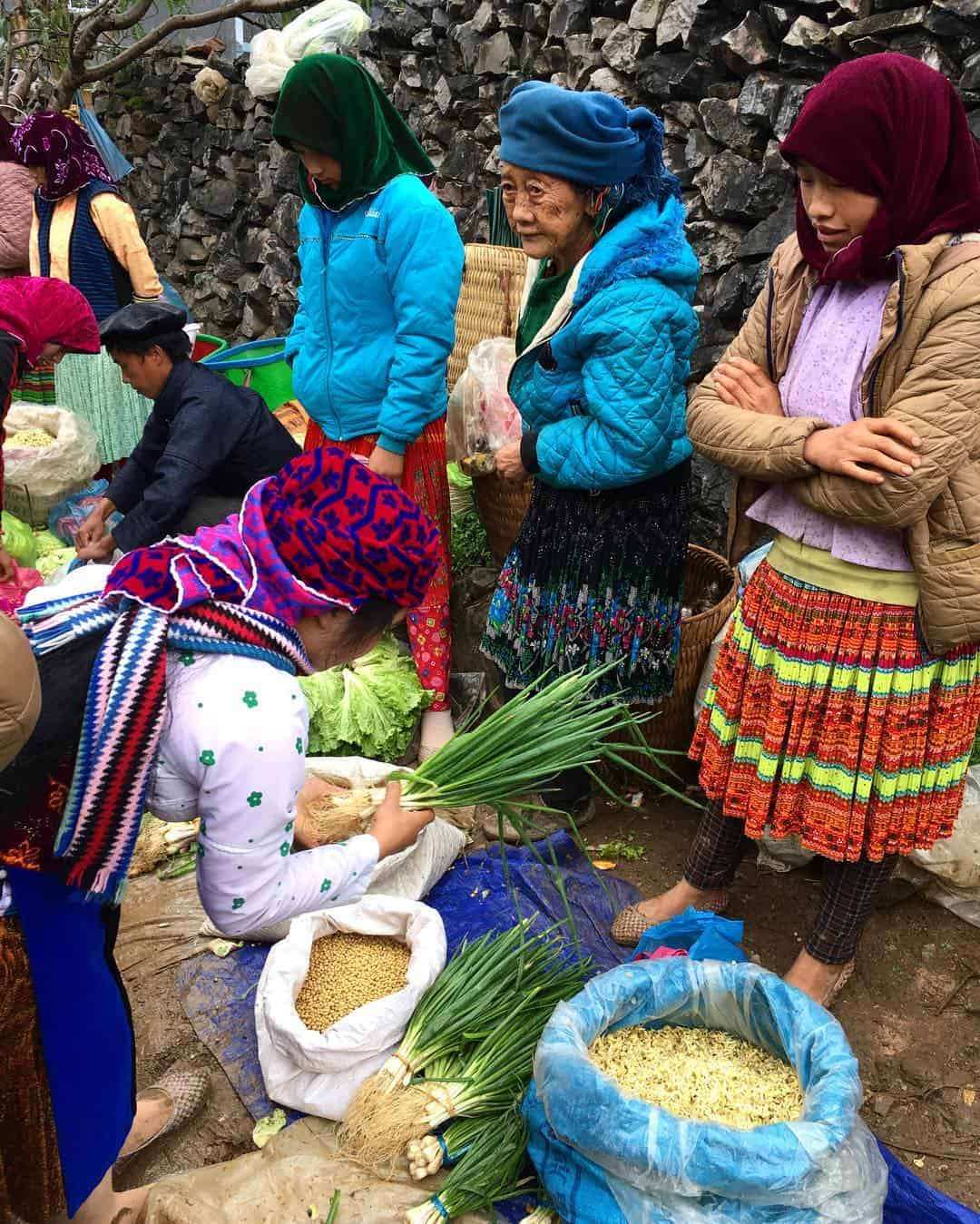 Locals trading in Lung Phin market