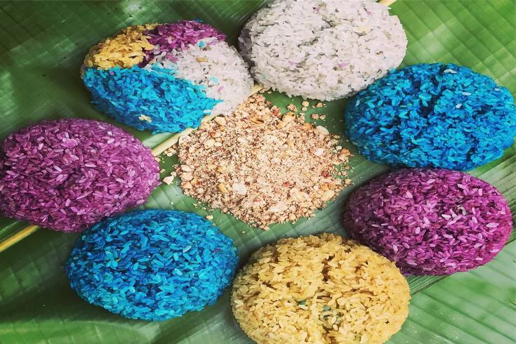 Seven color glutinous rice of Nung Dinh people